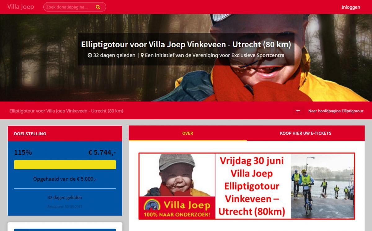 Acties Villa Joep leveren meer dan € 12.500,– op!